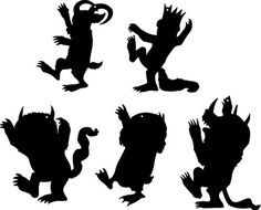 where the Wild Things Are, silhouettes print, trace, cut on theme colored paper from dollar tree, hole punch and use twine! Wild One Birthday Party, Baby First Birthday, First Birthday Parties, First Birthdays, Birthday Ideas, Birthday Boys, Wild Ones, Wild Things, Babyshower