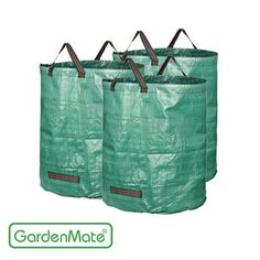 GardenMate 72 Gallons Reuseable Heavy Duty Gardening Bags - Reuseable Garden Leaf Waste Bags >> Additional details at the pin image, click it : Gardening Supplies