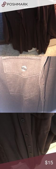Brown Cardigan with Buttons Super cute cardigan! Only worn once. Sweaters Cardigans