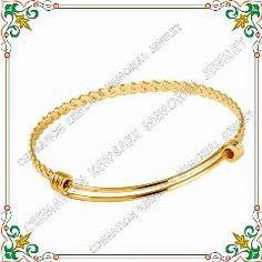 [ $20 OFF ] Cjb0273 Golden Plating 60Mm Twisted Pattern Expandable Wire Bangle Charm Bracelet Stainless Steel Adjustable Adult Teen Kids