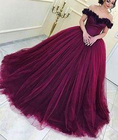 Elegant Prom Dress, Long Prom Dress,Tulle Prom Dresses,