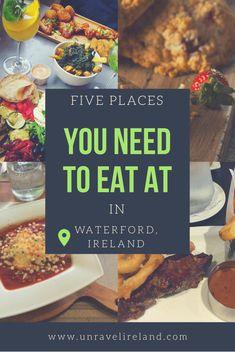 Top 5 restaurants in Waterford, Ireland - Unravel Ireland Waterford City, Waterford Ireland, Best Places To Eat, Restaurant, Posts, Blog, Messages, Diner Restaurant, Blogging