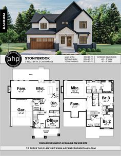 Farmhouse Lighting Design Tips Now is the perfect to start thinking about redecorating your farm home's interior. Sims House Plans, Dream House Plans, House Design Plans, Home Floor Plans, Floor Plans 2 Story, House Plans 2 Story, House Plans 3 Bedroom, Family House Plans, Modern Farmhouse Porch