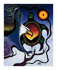 Truth by Frank Polson. Cultural Background- Algonquin, Long Point First Nations, QC Native American Paintings, Native American Artists, American Indians, Canadian Art, Canadian Culture, Mexica, Wow Art, Indigenous Art, Aboriginal Art