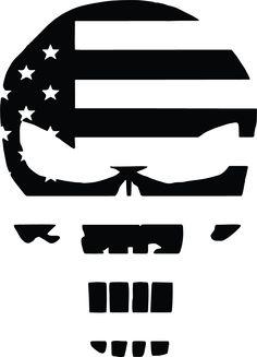 Punisher Skull American Flag