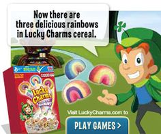 Did you know that when kids are playing on Nickelodeon's Neopets.com, they're being exposed to junk food ads, like this one for Lucky Charms?  Nick should adopt a food marketing policy and not sell junk food to kids on its websites!