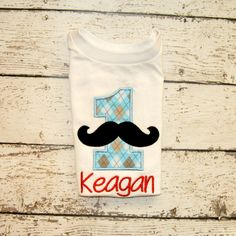 Birthday Moustache Number with Personalization by OoeAndAuti, $14.00