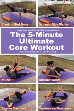 5 minutes? No problem, strengthen you core in 5 minutes a day!