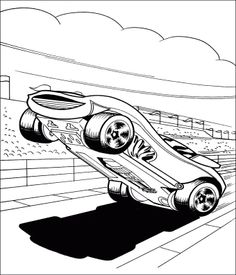 Extreme Cars Hot Wheels Coloring Pages
