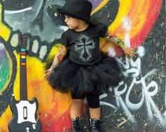 ec615ee35315c Black Heartbreaker tattoo sleeved tshirt or onesie with winged heart  applique. Tattoo Sleeve ...