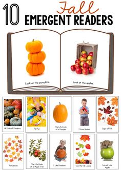 Looking for a fall theme for preschool? You'll love this GIANT resource for a pumpkin, leaf, and apple theme for preschool and kindergarten! Emergent Literacy, Emergent Readers, Early Literacy, Literacy Activities, Reading Activities, Toddler Activities, Fall Preschool, Preschool Lessons, Halloween Activities