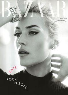 "Kate Winslet on ""Harper's Bazzar"" UK cover, April 2013"