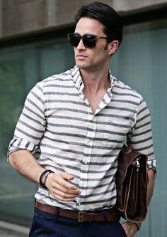 men's horizontal striped shirt - Google Search