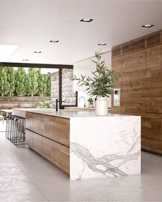 21 Modern Kitchen Concepts Every Home Prepare Requirements to See - luxury kitchen Home Decor Kitchen, Interior Design Kitchen, Modern Interior Design, New Kitchen, Kitchen Modern, Rustic Kitchen, Kitchen Island Lighting Modern, Modern Kitchen Interiors, Contemporary Kitchen Design