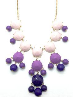 Lollipop - Purple Statement Necklace