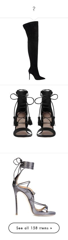 """""""👠"""" by mxnvt ❤ liked on Polyvore featuring shoes, boots, sapatos, heels, black, over-the-knee boots, black boots, thigh high boots, black suede over the knee boots and over the knee suede boots"""