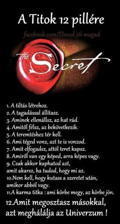 A Titok 12 pillére Rhonda Byrne Law Of Attraction Money, Law Of Attraction Quotes, Mind Tricks, How To Manifest, Numerology, Positive Affirmations, Positive Thoughts, The Secret, Quotations