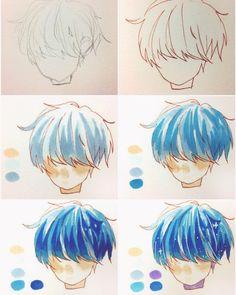 Manga Drawing Tips (Anime Drawing Tutorial) - Page 2 of 2 - Digital Painting Tutorials, Digital Art Tutorial, Art Tutorials, Drawing Tutorials, Drawing Techniques, Drawing Tips, Drawing Sketches, Drawing Ideas, Drawing Base