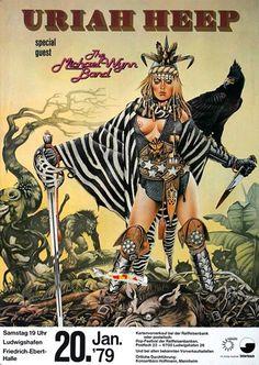 Uriah Heep - Fallen Angel 1979 - Poster Plakat Konzertposter