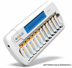SunLabz Smart Rechargeable Battery Charger - AA AAA NiMH ...