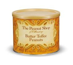 The Peanut Shop of Williamsburg Butter Toffee Peanuts, 11.5-Ounce Tins (Pack of 2) for only $12.99