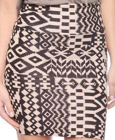 Ikat Print Bodycon Skirt   FOREVER21 - 2000038806