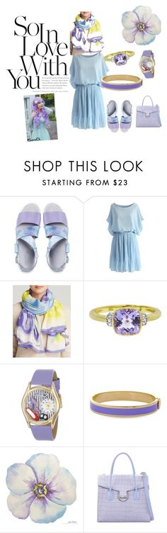 """""""lady in blue"""" by amanihanbali ❤ liked on Polyvore featuring Miista, Chicwish, Marc by Marc Jacobs, Whimsical Watches, Halcyon Days and Charles Jourdan"""