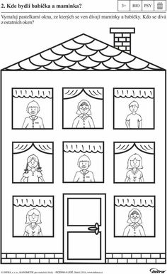 Paper House with Opening Doors Preschool Family Theme, Preschool Writing, Family Crafts, Preschool Worksheets, Preschool Activities, Kindergarten Names, Craft Work For Kids, Winter Crafts For Kids, All About Me Activities