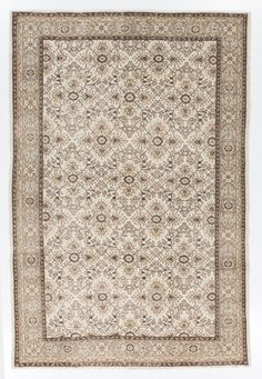 6.7x9.9 Ft Muted Turkish Oushak Rug. Washed Out by SplendidRugs