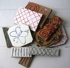 Jennibellie Studio: Making Stamps from Recycling - Tutorial Project