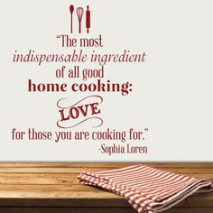 The most indispensable ingredient of all good home cooking: Love ...
