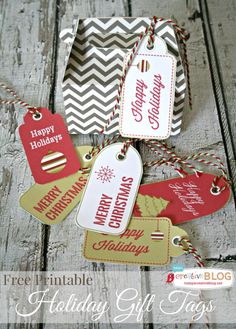 printable Holiday Gift Tags  TodaysCreativeBlog.net