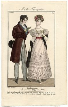 A lady and gentleman 1823 L'Indiscret