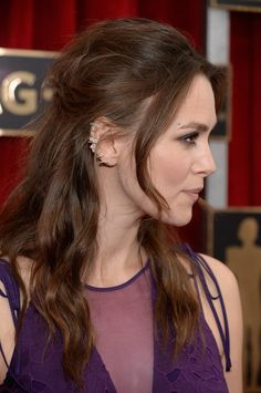 Pin for Later: How to Look as Edgy-Glam as Keira Knightley IRL Half-Up 'Do From the Side
