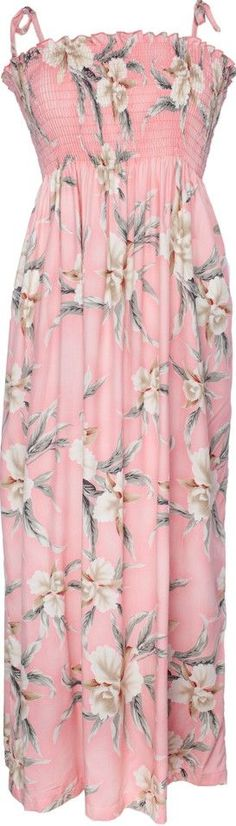 "Tube Top Dress Retro Orchid Pink 45"" Length"