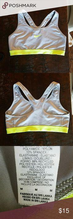 Nike sports bra Barely worn, size medium. Nike Tops