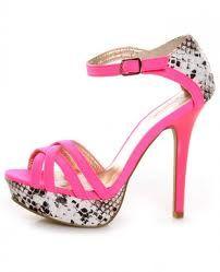 Qupid snakeskin heels.