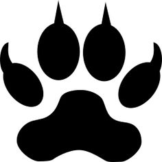 Clipart - Dog or wolf footstep/track