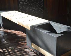Concrete Planter Bench
