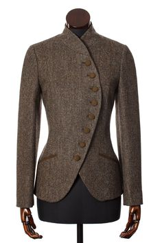 Brown Herringbone Tweed Emma Jacket Walker Slater Tweed Specialists