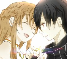 Sword Art Online | A-1 Pictures | Reki Kawahara | abec / Kirito and Asuna / 「結婚おめでとー」/「猫の毛玉」のイラスト [pixiv]