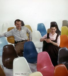 Charles & Ray Eames – at the vanguard of design Eames Furniture, Eames Chairs, Plywood Furniture, Lounge Chairs, Modern Furniture, Furniture Design, Charles & Ray Eames, Ikea High Chair, Toddler Table And Chairs