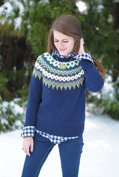 Fair-Isle sweaters a must have in the early preppy-80's | The 80's ...