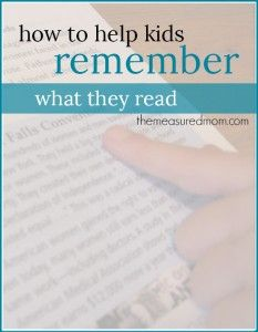 A reading comprehension strategy to help kids remember what they read - Read. Cover. Remember. Retell. This is a great way to keep their minds active over summer break!