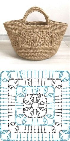 Choose and Copy: 18 Crochet Summer Bag and Knitting ProjectsKn Graphics . - Choose and Copy: 18 Crochet Summer Bags and Knitting Projects GraphicsKnitting FashionCrochet Hair - Crochet Square Patterns, Crochet Motifs, Crochet Tote, Crochet Handbags, Crochet Purses, Crochet Gifts, Crochet Stitches, Knitting Patterns, Knit Crochet