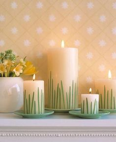 Easy DIY Easter Decorations for your Home. From grass candles to Easter egg holders and more, bring Easter into your home with these great DIY ideas. #DIY #Easter #decorations