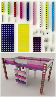 Life-sized LEGO like furniture |Olla