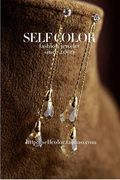 $6.07 crystal earring -ZZKKO