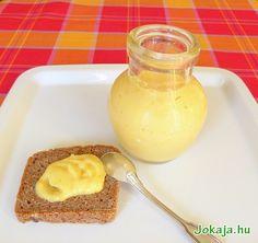 lemon-curd nyírfacukorral Izu, Lemon Curd, Panna Cotta, Muffin, Paleo, Pudding, Ethnic Recipes, Desserts, Food