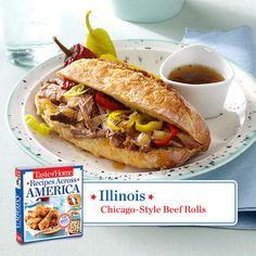 50 States in 50 Days:  Illinois :: Chicago-Style Beef Rolls Recipe from Taste of Home.    Find regional Midwestern recipes like this one and more in our new cookbook, Recipes Across America---->  http://www.tasteofhome.com/rd.asp?id=22997